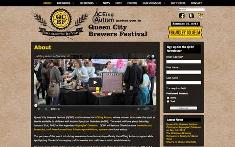 Screenshot of About Page qcbrewfest.com - About | Queen City Brewers Festival - captured Oct. 3, 2014
