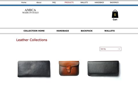 Screenshot of Products Page amicabay.com - leather handbags - captured Dec. 5, 2018
