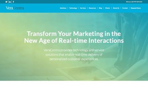Screenshot of Home Page veracentra.com - VeraCentra - Customer Engagement Technology Services and Solutions - captured Sept. 20, 2018
