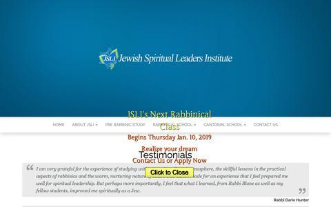 Screenshot of Testimonials Page jsli.net - Testimonials - captured Oct. 13, 2018