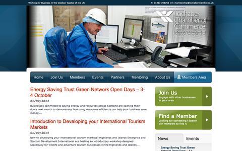 Screenshot of Press Page lochaberchamber.co.uk - Lochaber Chamber of Commerce - captured Oct. 6, 2014