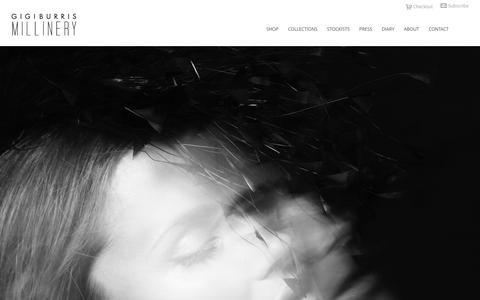 Screenshot of Home Page gigiburris.com - GIGI BURRIS - captured Oct. 1, 2014