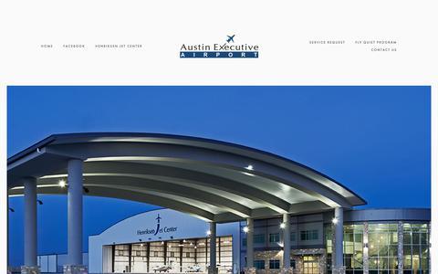 Screenshot of Home Page austinexecutiveairport.com - Austin Executive Airport - captured Nov. 13, 2018
