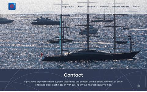 Screenshot of Contact Page e3s.com - Contact   e3 Systems - captured Sept. 30, 2018