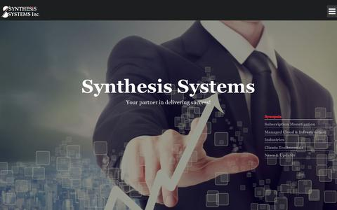 Screenshot of Home Page synthesis-systems.com - Synthesis-Systems, Inc. - captured Oct. 24, 2017