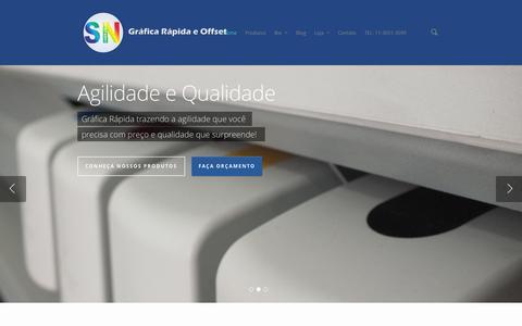 Screenshot of Home Page sncolor.com.br - SN COLOR - Gráfica Rápida e Offset - captured Oct. 4, 2014