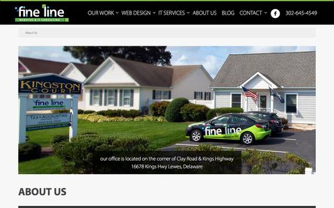 Screenshot of About Page finelinewebsites.com - Delaware Website Development & IT Consulting Team - Fine Line Websites & IT Consulting, LLC - captured Feb. 10, 2016