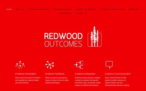 Screenshot of Home Page redwoodoutcomes.com - Redwood Outcomes - captured Aug. 14, 2015
