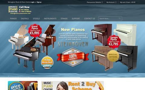 Screenshot of Home Page music-pianocentre.eu - Monaghan Music & Pianocentre - captured Jan. 26, 2015