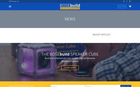 Screenshot of Press Page bose.com - News – bosebuild - captured Oct. 26, 2016