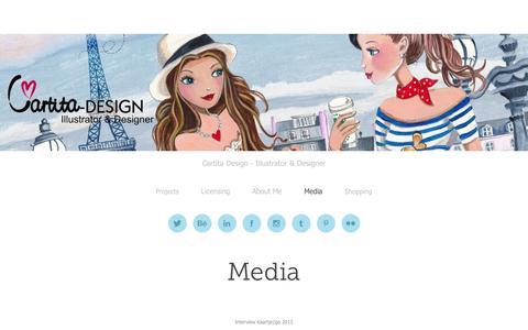 Screenshot of Press Page cartitadesign.com - Cartita Design - captured July 11, 2016
