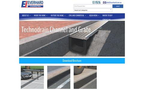 Screenshot of everhard.com.au - Technodrain Channel and Grate Archives - Everhard - captured April 13, 2016