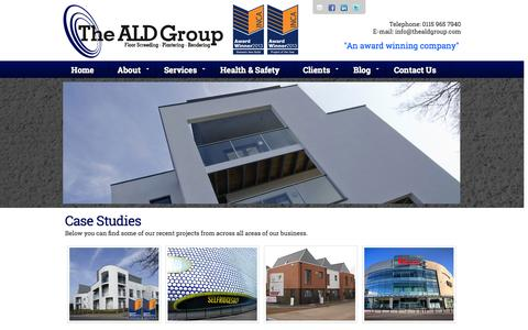 Screenshot of Case Studies Page thealdgroup.com - The ALD Group - Case Studies - captured Oct. 7, 2014
