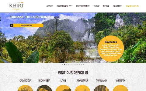 Screenshot of Home Page khiri.com - Khiri Travel | Sharing our passion for discovery - captured Oct. 1, 2014