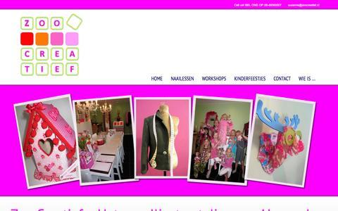 Screenshot of Home Page zoocreatief.nl captured Sept. 30, 2014