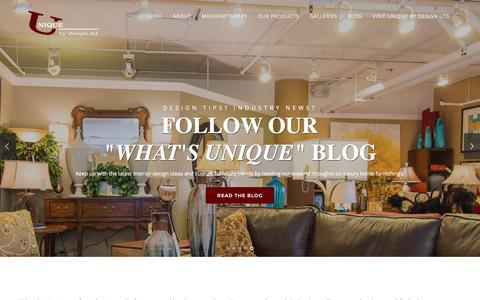 Screenshot of Home Page uniquebydesign.us - Unique Furniture Designs, Custom Made Furniture - captured Feb. 23, 2016