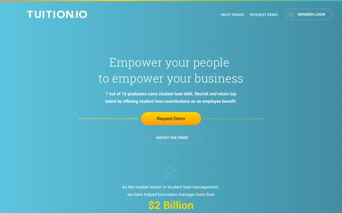 Tuition.io | Employer Student Loan Contributions as a Benefit