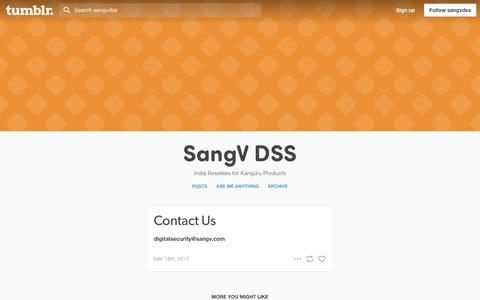 Screenshot of Contact Page tumblr.com - SangV DSS — Contact Us - captured Sept. 29, 2017
