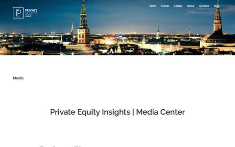 Screenshot of Press Page pe-conference.org - Private Equity Insights | Media Center - captured Aug. 29, 2017