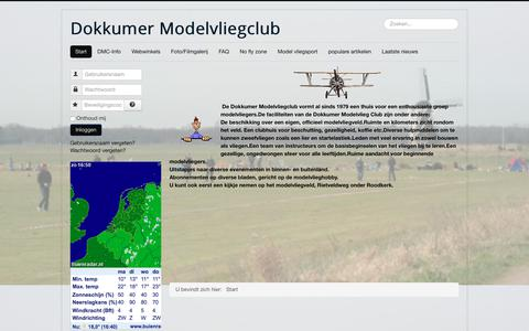 Screenshot of Home Page dokkumer-modelvliegclub.nl - Start - captured June 4, 2017