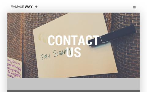 Screenshot of Contact Page emmausway.net - Emmaus Way | Contact Us - captured July 18, 2018