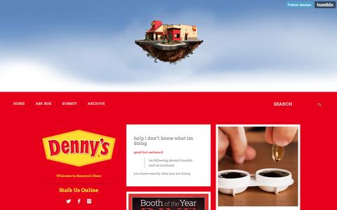 Screenshot of Blog dennys.com - Denny's Diner - captured Dec. 9, 2016