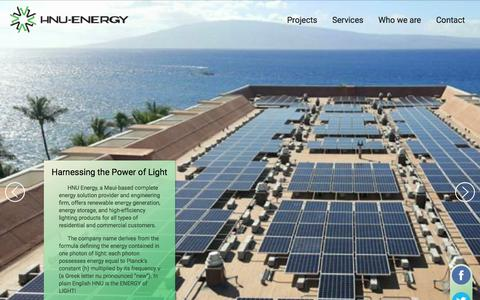 Screenshot of Home Page hnuenergy.com - HNu Energy - captured Aug. 18, 2017