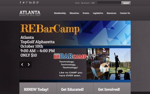 Screenshot of Home Page abr.org - Atlanta Board of REALTORS®: Home - captured Oct. 4, 2014