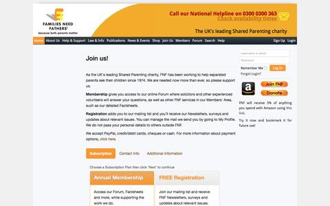 Screenshot of Signup Page fnf.org.uk - Sign up - captured Nov. 24, 2016