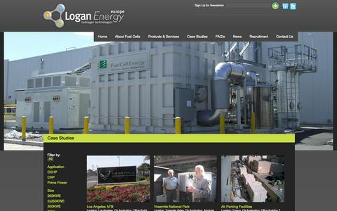 Screenshot of Case Studies Page logan-energy.com - Case Studies » Logan Energy - Harnessing the power of hydrogen to provide clean energy solutions - captured Oct. 3, 2014