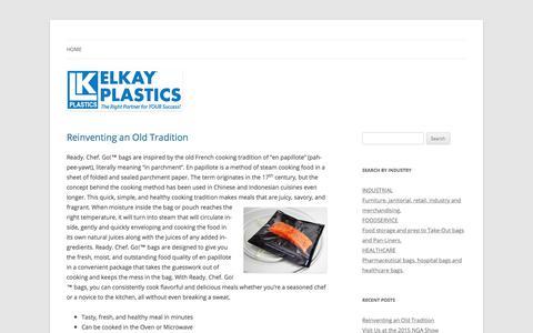 Screenshot of Blog elkayplastics.com - Elkay Plastics | The Right Partner for YOUR Success! - captured Oct. 3, 2017