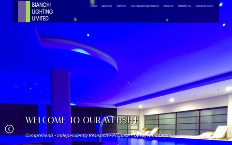 Screenshot of Home Page bianchilighting.co.uk - BIANCHI LIGHTING LIMITED - captured Oct. 5, 2014