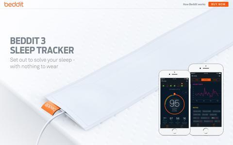 Screenshot of Home Page beddit.com - Beddit Sleep Tracker - captured Sept. 27, 2016