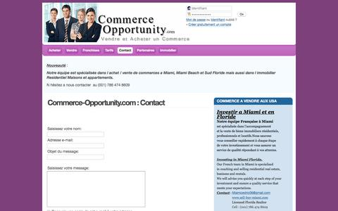 Screenshot of Contact Page commerce-opportunity.com - Commerce-Opportunity.com : Contact - captured June 3, 2016