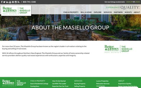 Screenshot of About Page masiello.com - About The Masiello Group - captured Nov. 2, 2018
