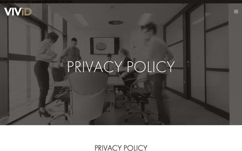 Screenshot of Privacy Page vividpr.co.uk - PRIVACY POLICY — Vivid - captured Oct. 20, 2018
