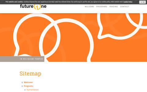 Screenshot of Site Map Page jimdo.com - Sitemap - futureOne - captured Oct. 11, 2018