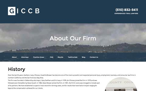 Screenshot of About Page giccb.com - About Our Firm | GICCB - captured Nov. 2, 2014