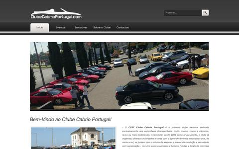 Screenshot of Home Page clubecabrioportugal.com - ..:: CCPT Clube Cabrio Portugal ::.. - captured Sept. 30, 2014