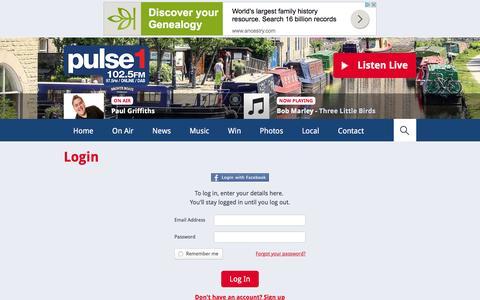 Screenshot of Login Page pulse1.co.uk - Login | Club | Club - Pulse 1 - captured March 2, 2016