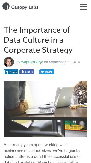 The Importance of Data Culture in a Corporate Strategy - Canopy Labs