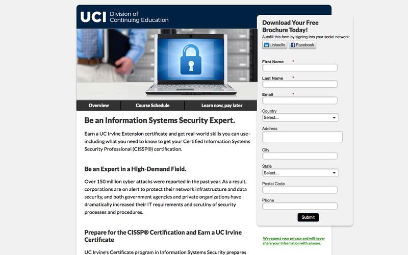 UC Irvine Extension Information Systems Security Programs