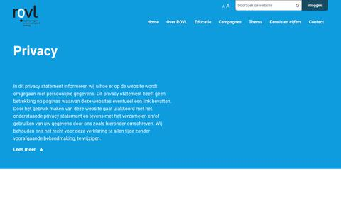 Screenshot of Privacy Page rovl.nl - Privacy | ROVL - captured Nov. 13, 2017