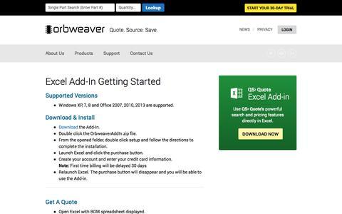 Screenshot of Trial Page orbweaver.com - Orbweaver — Help - captured Nov. 3, 2014