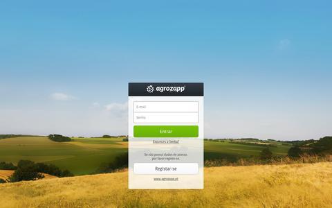 Screenshot of Login Page agrozapp.pt - Agrozapp - Sistema de pesquisa de informação sobre fatores de produção para a agricultura - captured Sept. 30, 2014