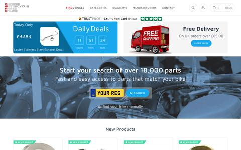 Screenshot of Home Page chinesemotorcyclepartsonline.co.uk - Home | CMPO | Chinese Motorcycle Parts Online - captured Oct. 19, 2018