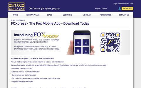 FOXpress Landing Page