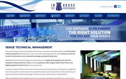 Screenshot of Team Page inhousevtm.com - IVTM | VENUE TECHNICAL MANAGEMENT - captured July 11, 2018