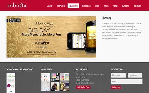 Screenshot of Products Page robustastudio.com - robusta | Products - robusta - captured Sept. 30, 2014