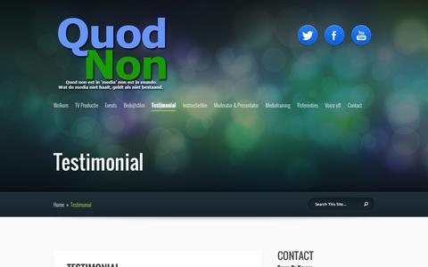 Screenshot of Testimonials Page quodnon.be - Testimonial | Quod Non - captured Oct. 5, 2014